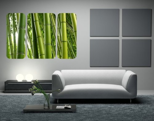 sticker-mural-adhesif-the-bamboo-trees-triptychon-grosse36cm-x-54cm
