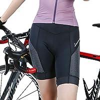 STKASE® Ciclismo Pantalones Cortos Hombres y Mujeres Ropa Interior de Bicicleta 3D Gel de sílice Acolchado Ciclismo Calzoncillos Transpirable, Elástica, Secado Rápido, Ligera, L