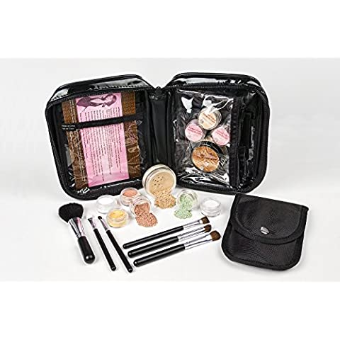 15 pc Mineral Makeup Starter Kit (WARM -Most Popular) Foundation Set Bare Skin Powder Sheer Natural Cover by Sweet Face Minerals