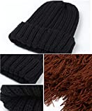 Kuyou Lustige Bartmütze Strick Beanie Mütze Skimaske Winter Hat - 2