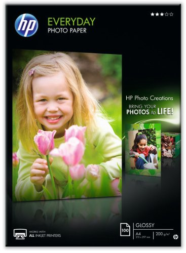 HP Everyday Photo Paper  Papier Brillant A4 (210 x 297 mm) 200 g/m2 100 pc. Q2510