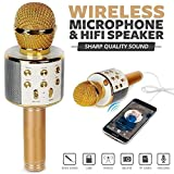 #2: Brobeat Ws-858S Karaoke Mic Wireless, Handheld Singing Machine Condenser Microphones Mic And Bluetooth Speaker (Assorted Colour)