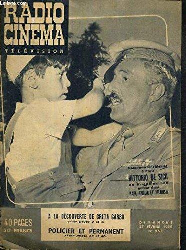 RADIO CINEMA TELEVISION - N°267 - DIMANCHE 27 FEVRIER 1955 -