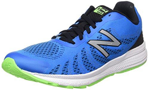 New Balance Unisex-Kinder Sneaker, Blau (Blue/Green), 40 EU (6.5 UK) (Blau, 6.5 Kunstleder)