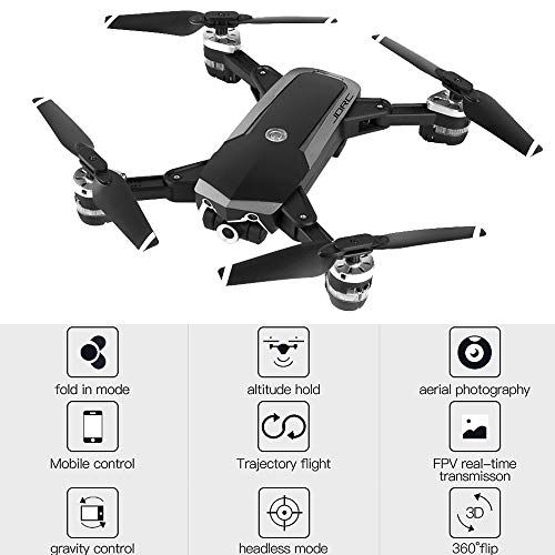 TianWlio JDRC WiFi FPV RC Quadrocopter Faltbare Fernbedienung Drohne 720P 4 Kanal 0.3 / 2MP