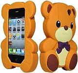 Bastex 3D Cute Teddy Bear Case for Apple iPhone 4, 4s - Brown