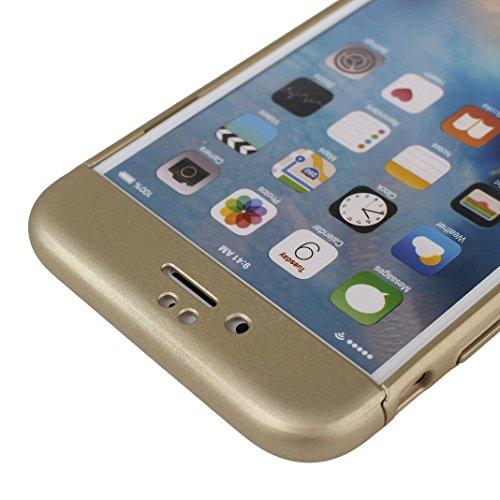 iPhone 6S Plus Hülle Outdoor, iPhone 6 Plus Case, Rosa Schleife Slim Stoßfestes Schutzhülle Hybrid Cover 3 in 1 Armor Handyhülle Plastik Hart Cases Bumper Robuste Hülle für iPhone 6S Plus / 6 Plus Sch Champagne gold