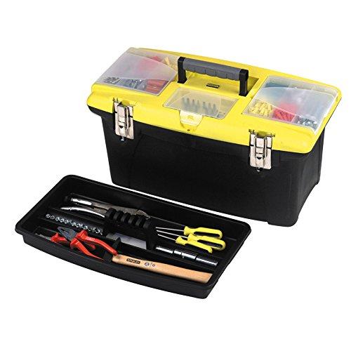 Stanley Werkzeugbox Jumbo (48.6 x 27.6 x 23.2 cm, integrierter Organizer, Bohrer-Bithalter, Metallschließen) 1-92-906