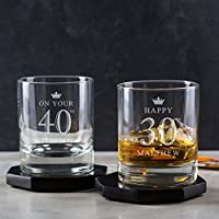 Personalised Whiskey Glass/Personalised Tumbler/Personalised 30th Birthday Gifts For Men/Personalised 40th Birthday Gifts For Men / 21st 18th 50th 60th / Whisky gifts for men