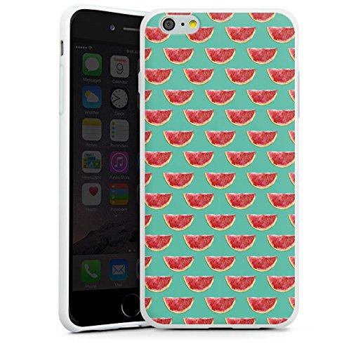 Apple iPhone X Silikon Hülle Case Schutzhülle Wassermelone Muster Sommer Silikon Case weiß