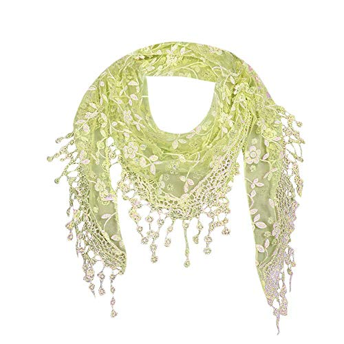 YEBIRAL Heißer Verkauf Damen Schal Lace Frauen Accessoires Tücher Halstuch Dreieck Schals 15 Farben(Grün)