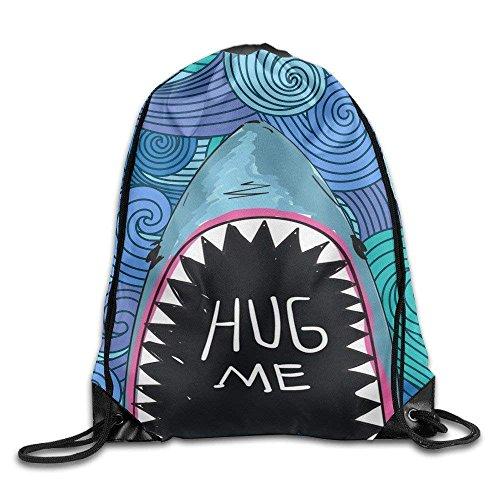 Cool Drawstring Backpack Hug Me Whale Art Design Print Drawstring Backpack Rucksack Shoulder Bags Gym Bag (Für Coole Lace-designs Vans)