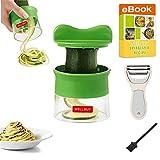 Spiralizer Spiral Slicer Vegetable Julienne Peeler- Zoodle Zucchini Veggie Spaghetti Pasta Noodle Maker-With