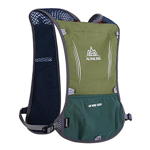 5L chaleco mochila blufied luz peso bolsa de hidratación con rayas re