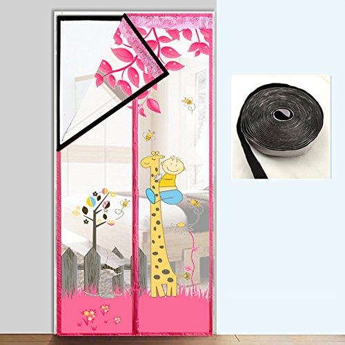 tklebend Türen für häuser bildschirm,Türen mit magneten bildschirm Velcro magnetische tür siebgewebe Tür vorhang Der moskito Magnetisch Hohe denisity Küche Schlafzimmer-C 100x200cm(39x79inch) (Sprengen Hund)