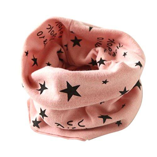 Longra Automne hiver bébé Garçons filles Collier Coton O Anneau Écharpe Neck 40 * 37cm Pour 2 à 10 ans (Rose) Longra
