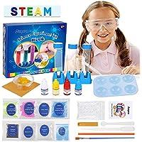 Anpro Kit de Ciencias para Niños,Experimentos Científicos para Niños,15 Experimentos Científicos, Kits de con Instrumentos Experimentales y Materiales Experimentales