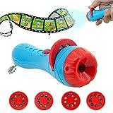 Kinder Projektor Taschenlampe, Samber Kindertaschenlampe Projektionslampe, mit Transport, Tier, Weltraum, Unterwasserwelt 4 Themen 32 Folien