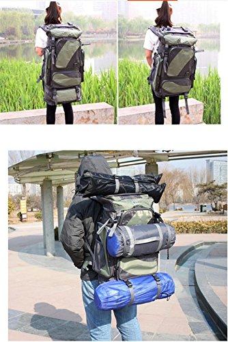 Zaino di outdoor zaino borsa a tracolla alpinismo grande capacità zaino escursionismo zaino da viaggio panno Oxford impermeabile (60L), Orange (80L) Sky blue (60L)