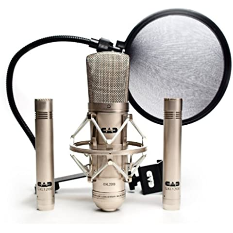 CAD Audio GXL2200SSP - Set professionale da 4 pezzi, microfono stereo cardioide a condensatore - 4 Condensatore Cardioide