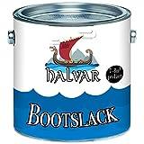Halvar Bootslack Yachtlack Bootsfarbe Yachtfarbe PU-verstärkt für Holz verstärkt, extrem belastbar und hochelastisch Schiffslackierung (2,5 L, Schwarz (RAL 9005))