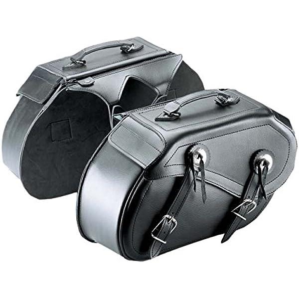 Cruizer Bor 2099 Paar Taschen Leder Motorrad Seitliche Universal Custom Guzzi Harley Davidson Satteltasche Schwarz 42 X 25 X 15 Cm Auto