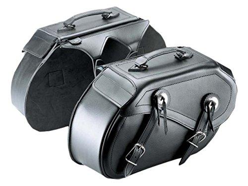 Cruizer bor-2099Paar Taschen Leder Motorrad Seitliche Universal, Custom Guzzi Harley Davidson Satteltasche, Schwarz, 42x 25x 15cm