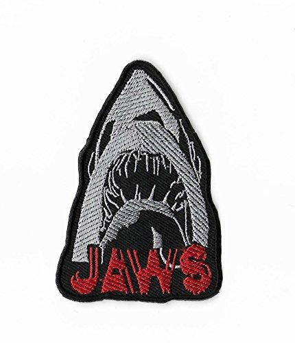 Backen Patch (8,9cm) DIY Nähen oder Bügeln bestickt auf Badge Aufnäher Horror Film Poster Shark Martin Brody das Revenge Souvenir Kostüm