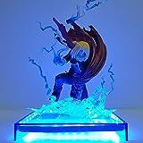 DADATU Fullmetal Alchemist Edward Elric LED Flash Base Action Figure Toy PVC Anime Fullmetal Alchemist Edward Alphonse Elric Figurine