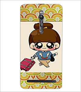 PrintDhaba Cartoon D-4723 Back Case Cover for ASUS ZENFONE 2 (Multi-Coloured)