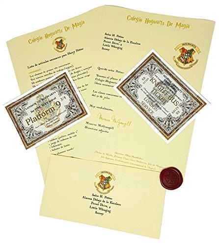Harry Potter Carta Aceptación Personalizada Estilo