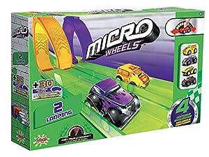 Splash Toys 30609 - Juego de Ruedas (2 Loops + 2 garajes + 4 Coches), Color Rojo, Amarillo, Verde, Azul, Blanco, Rosa, Negro