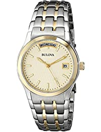 Bulova Dress Analog Champagne Dial Men's Watch - 98C60