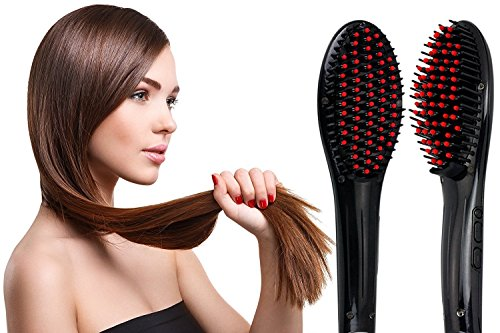 Gopani Simply Straight 2 in 1 Ceramic Hair Straightener Brush