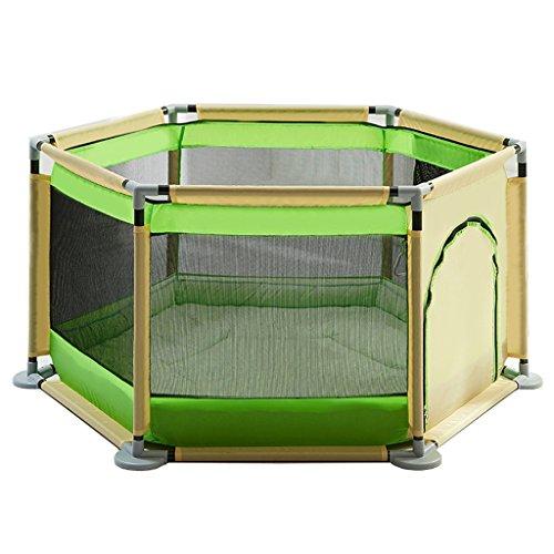 Baby Laufstall Mit Pad Kissen, Indoor Outdoor Stall Kinder Kleinkind Kinder Laufgitter Heavy Duty Zaun, Grün (Farbe : Grün)