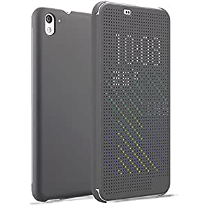 HTC 826 Case, HTC Desire 826 case, AnoKe@ DEY DOT Luxury Flip Slim Dot View Cover Case for HTC 826 (Dot Grey)