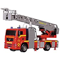 Dickie 203715001 yo Engine Detailed 31cm Fire Truck Toy with Working Fireman