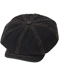 WITHMOONS Sombreros Gorras Boinas Bombines Baker Boy Flat Cap Stitchy Beret  Washed Denim Jean Hat DW3834 7cca3f0ca9e