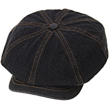 WITHMOONS Sombreros Gorras Boinas Bombines Baker Boy Flat Cap Stitchy Beret  Washed Denim Jean Hat DW3834 96d143480d8