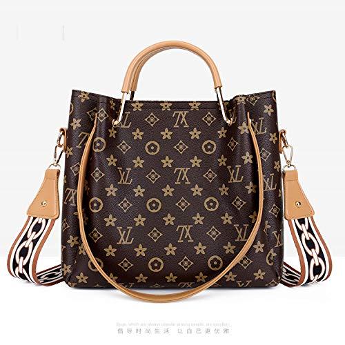 Ldyia Handtasche der Frauen große Tote-Leder-Einkaufstasche-Schulter-Tasche für Frauen-Mädchen-Taschen, Paket der Schwiegermutter 2pcs, kakifarbig