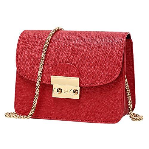 West See Kleine Damentasche Umhängetasche Citytasche Schultertasche Handtasche, Farbenwahl (Rot) - Schwarz Fendi Handtaschen