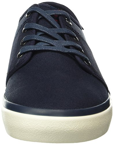 Jack & Jones Jfwturbo Waxed Canvas Sneaker Navy Blaze, Baskets Basses Homme Bleu - Blau (Navy Blazer)