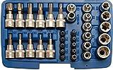 BGS 5021 T-Profil Bit -und Steckschlüsselsatz 10 (3/8), 34-tlg