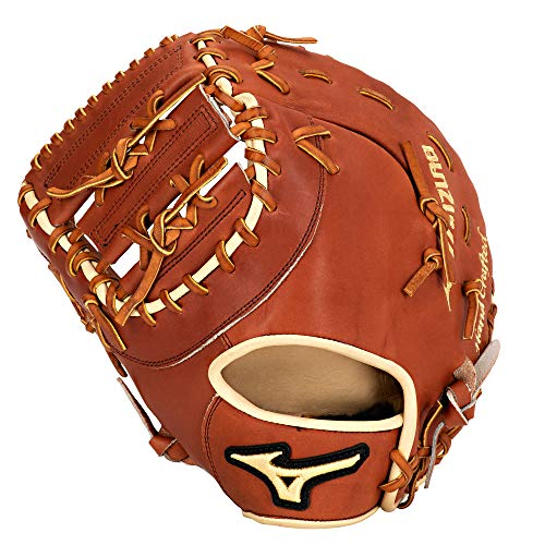 Mizuno Pro Select Baseballhandschuh Serie, Pro Select GPS1-300FBM Fist Base Mitts, Brown, Brown 1st Base, 13