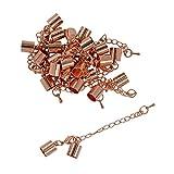 Sharplace 12 Stück DIY Schmuck Basteln Endkappe Endkappe Verschluss Halskette Extender Armband Verlängerung Kette Set Fü Schmuckherstellung - Roségold