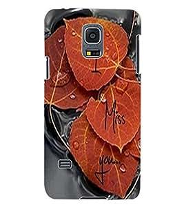 ColourCraft Love Leafs Design Back Case Cover for SAMSUNG GALAXY S5 MINI
