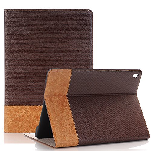 iPad Pro case For 9.7 inch ,TechCode Luxury Book Style Folio Case Cover Stand Magnetic PU Leather with Smart Auto Sleep/Wake Feature Case Cover for Apple iPad Pro 9.7 inch Test
