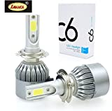 LEUCI H4 C6 Led Headlight 36W/3800LM Replacement Bulbs ( pack of 2, white )