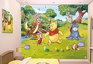walltastic 42100 disney winnie pooh tapete wandbild paper bunt 52 5 x 7 x 18 5 cm amazon. Black Bedroom Furniture Sets. Home Design Ideas