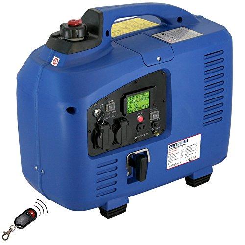 DENQBAR 2,2 kW Inverter Stromerzeuger Notstromaggregat Stromaggregat Digitaler Generator benzinbetrieben DQ2200ER mit E-Start und Funk Digital Inverter Generator